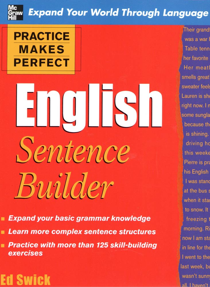 PRACTICE MAKES PERFECT: English Sentence Builder