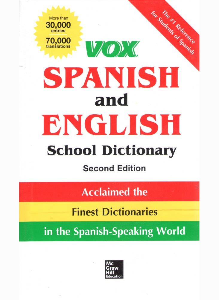 VOX SPANISH AND ENGLISH SCHOOL DICTIONARY